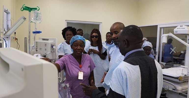 Becca, US Doctor, Dr. Javaka Moore Visit Korle Bu