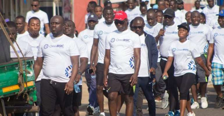 OmniBSIC Bank holds maiden health walk