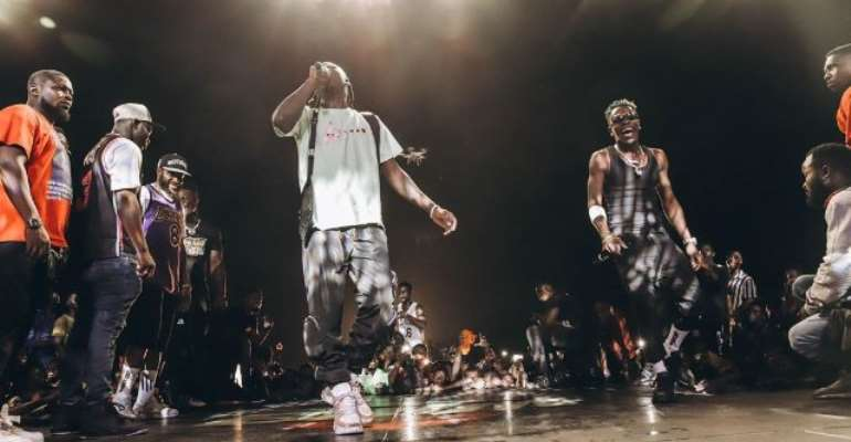 Stonebwoy and Shatta Wale performed together at the event