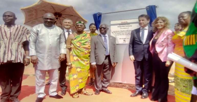 Italian Prime Minister, Senior Minister Inaugurate Okuafo Pa Agri-business Center At Dormaa East District