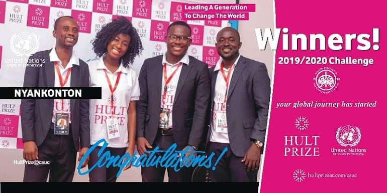 Kumasi: Nyankonton Wins Maiden Hult Prize CSUC  Contest