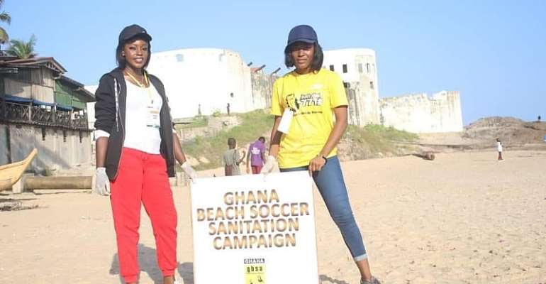 Araba Sey Unveiled As Ghana Beach Soccer Sanitation Ambassador