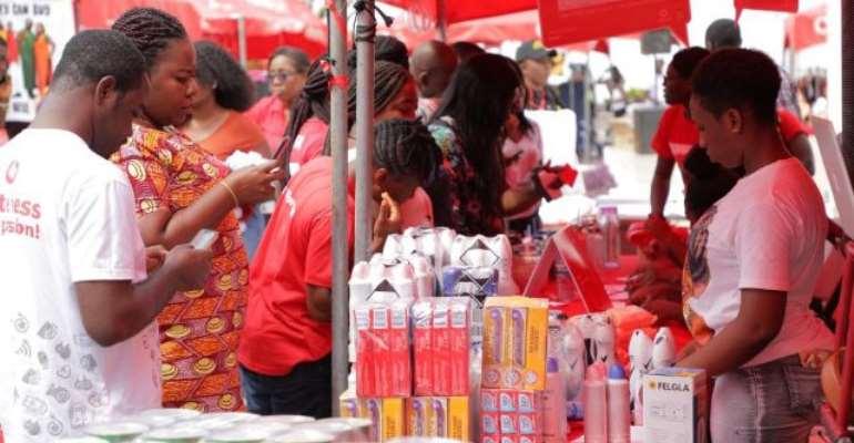 Vodafone Cash pre-Xmas bazaar excites customers