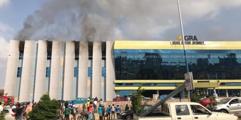 Fire Service investigates fire at GRA office