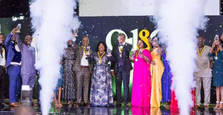 Some winners at the 2018 Ghana Oil and Gas Awards