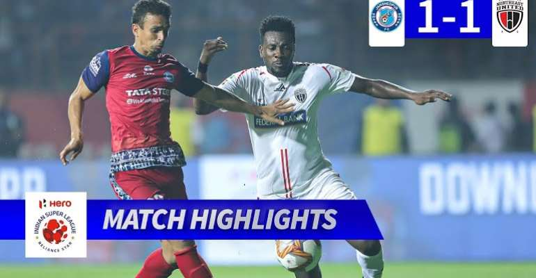 Gyan Excel In NorthEast United's Stalemate With Jamshedpur In India
