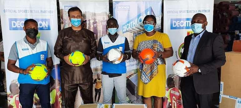 GFA receives 1000 footballs from Decathlon Ghana
