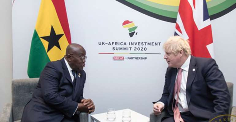 President Akufo-Addo interracting with Prime