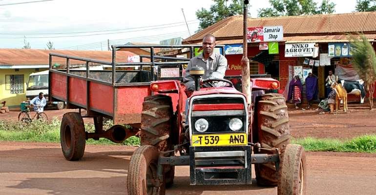 A Tanzanian farmer tractor driver in Makuyuni, Arusha, Tanzania. - Source: Shutterstock