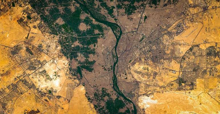 High resolution satellite image of the Nile River's delta - Source: Shutterstock/TommoT