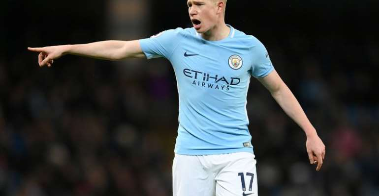 De Bruyne facing up to six weeks out at Man City with muscle problem