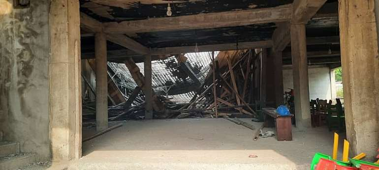 Accra: Two badly injured after building collapse at Adabraka