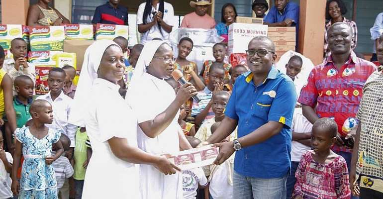 Rotarians of Ring Road Central feast with Kressner Orphanage