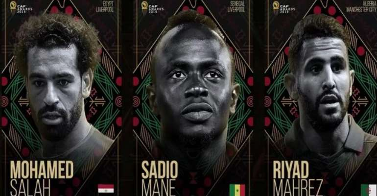 Caf Awards: Mahrez, Mane And Salah On Final Shortlist