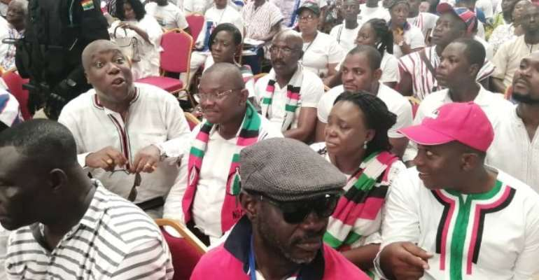 The NDC delegation was led by former NHIA Chief Executive, Sylvester Mensah.