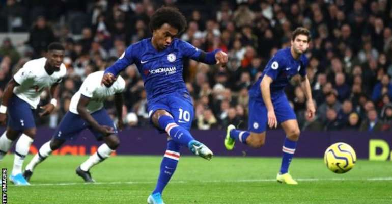 PL: Chelsea Win at 10-Man Spurs Amid Alleged Crowd Racism