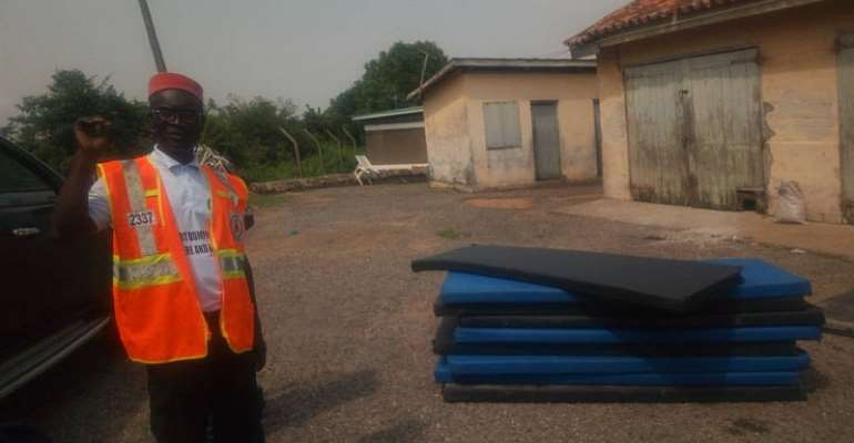 After Six Months: Dunkwa Flood Victims Receive Relief Items