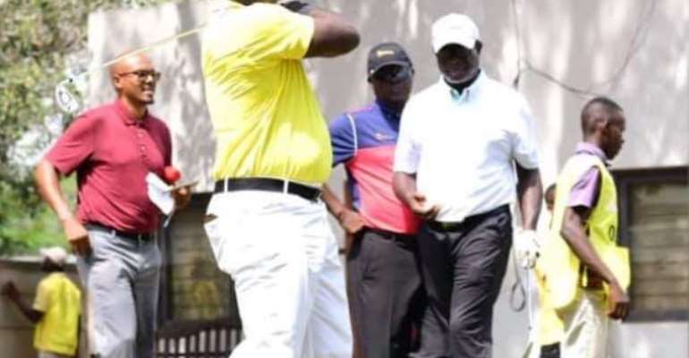 Scores Of Golfers Celebrate MD Of CAL Bank