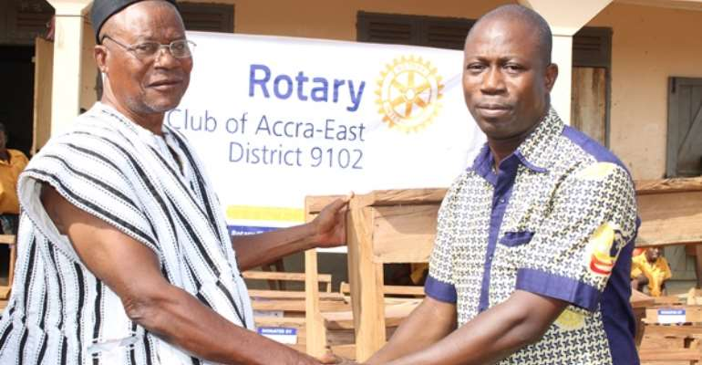 Accra East Rotary Club Gives Furniture To Sinyangsa Primary, JHS