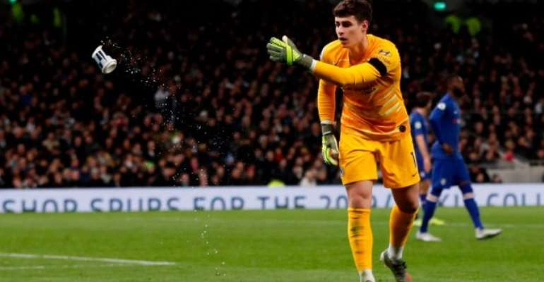 Tottenham Ban Fan Who Threw Cup At Chelsea Keeper Kepa