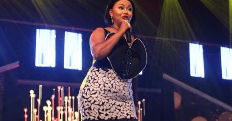 Nana Ama McBrown on stage at the Ghana Movie Awards
