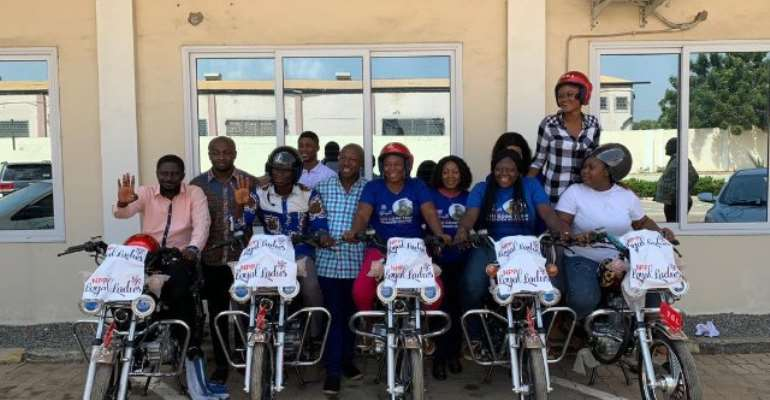 The NPP Loyal Ladies motorbikes the donation is to help the party conduct its campaign seamlessly next year.