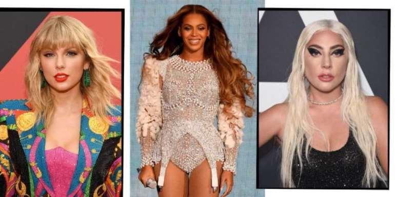Taylor Swift, Beyonce and Lady Gaga