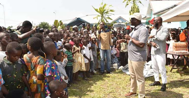 Ellembelle MP Fetes Children On Christmas Day