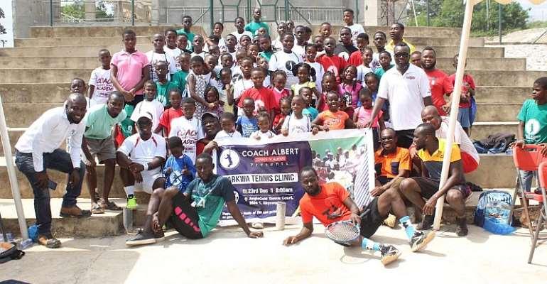 Thrills At Coach Albert Aseidu Offei Tennis Clinic