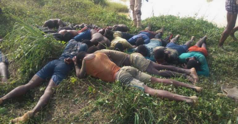 Galamsey On Offin River: 14 People Arrested