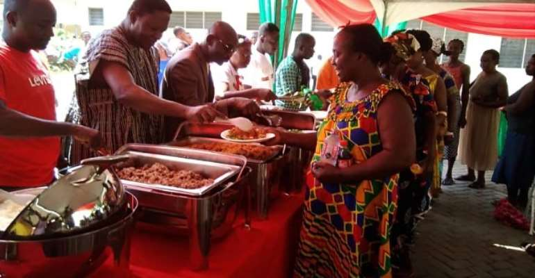 ICGC feted patients, caregivers and staff of the Eastern Regional hospital to mark the Christmas day.