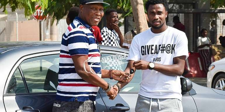Samuel Tetteh Present Brand New Car To His Manager