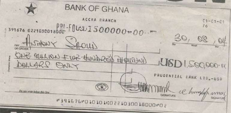 Hotel Kufuor: Analysis of Cheques and Receipts