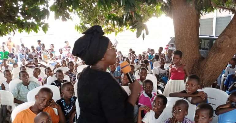 Dzifa Gomashie celebrates Christmas with hundreds of children in Ketu South