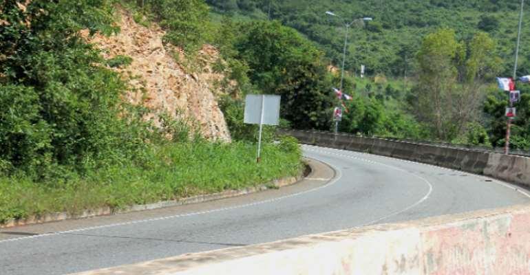 Peduase-Ayi Mensah road temporarily opened after rockfall incidents