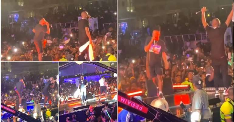 [Watch] Davido Drags Mayorkun On Stage For Crazy Performance At 'A Good Time' Concert