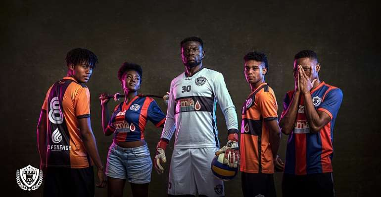 STUNNING: Legon Cities FC Unveil New Jerseys Ahead Of 2019/20 Ghana Premier League Season [PHOTOS]