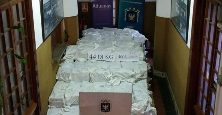 Uruguay seizes record 6 tonnes of cocaine at port and ranch