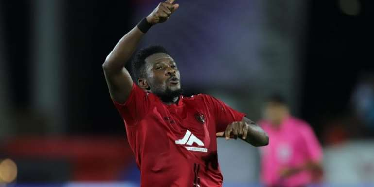 Gyan Returns From Injury To Score For Northeast Utd In Draw Against Kerala Blasters