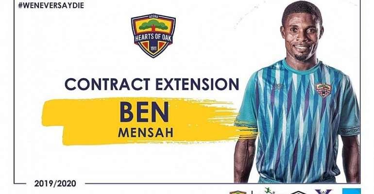 Goalkeeper Ben Mensah Signs Contract Extension At Hearts Of Oak