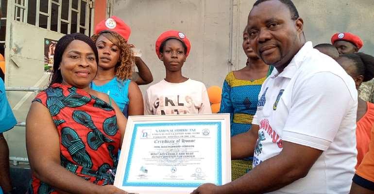 Liberia's Deputy Minister for Gender Madam Alice Johnson Howard