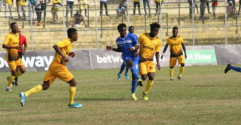 2019/2020 GPL: Ashanti Gold 3-0 Great Olympics – Miners Tame Newcomers In Obuasi