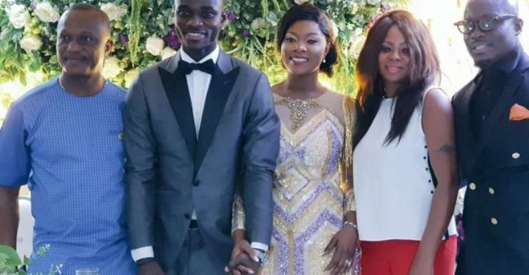 Black Stars Defender Jonathan Mensah Get Married To Longtime Girlfriend [PHOTOS]