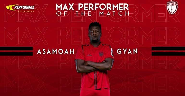 Asamoah Gyan Named NorthEast United Player Of The Match In Stalemate Against Kerala Blasters
