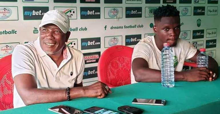 Dreams FC coach Karim Zito (Left), Emmanuel Ocran (Right)