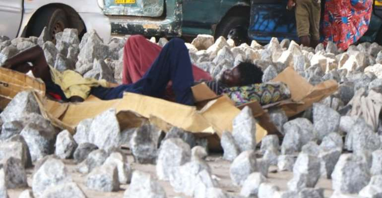 Open Defiance As Some Sleep On Pointed Stones At Circle