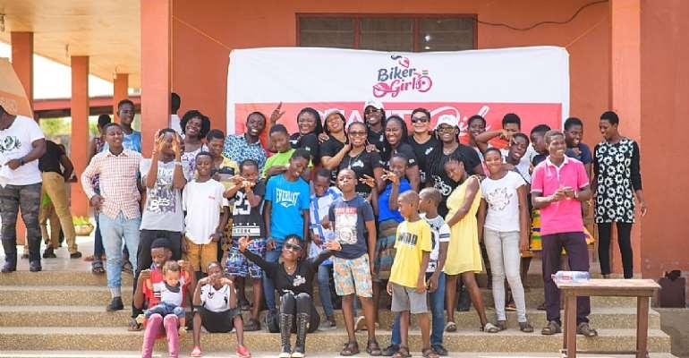 Biker Girls Gh Gives To Kinder Paradise Children's Home
