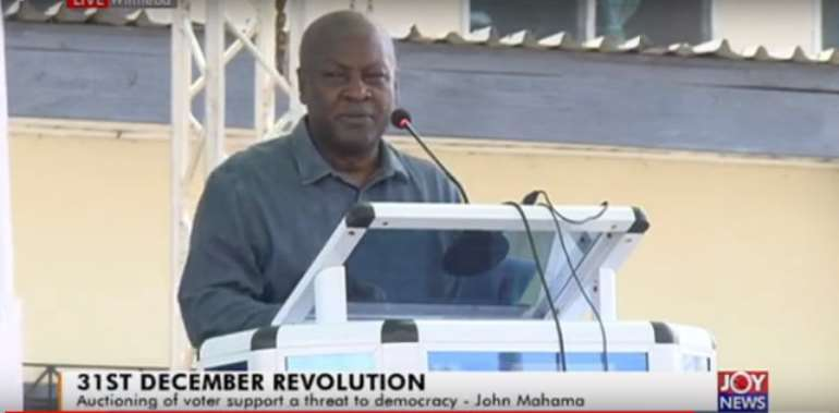 Flagbearer of the National Democratic Congress (NDC), John Dramani Mahama