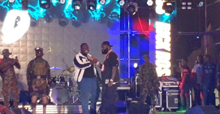 [Video] Detty Rave Concert Shines Struggling CJ Biggerman As He Perform With Rick Ross