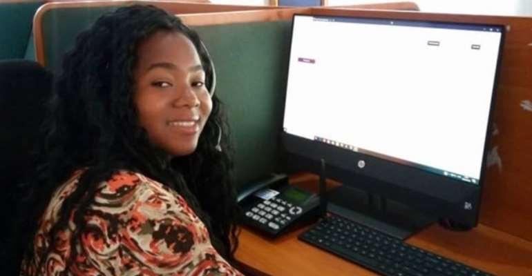 Nurse Alepher Matemba Banda responding to national helpline on GBV. Photo: Alepher Matemba Banda